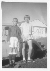 Steve soccer Shauna tennis Bardon 1960s