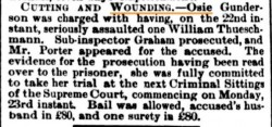 Brisbane Courier 7 Nov 1885 Osie Gunderson