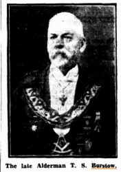 Thomas Stephen Burstow in Masonic regalia, obituary 1928