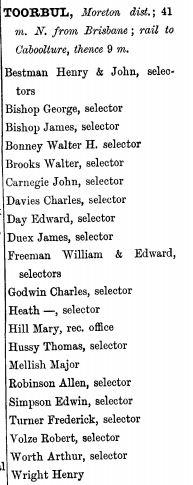 Toorbul 1896-97 QLD POD