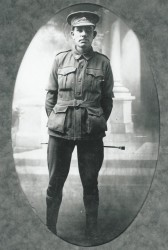 Frederick Trevaskis in army uniform WW1