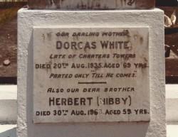 Dorcas White tombstone Toowong cemetery 1981