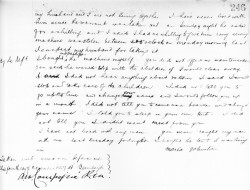 My GG grandmother Maria Johnston's 1887 deposition
