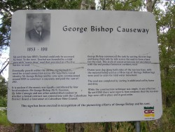 Heritage sign commemorating the building of the Toorbul causeway
