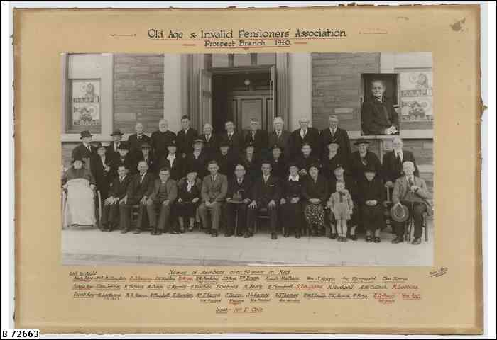 Prospect Branch Old Age & Invalid Pensioners' Association 1940, courtesy State Library South Australia