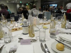 Conference dinner setting Rydges Port Macquarie Sep 2015