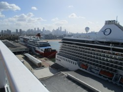 Docked in Melbourne with the Spirit of Tasmania and another cruise ship alongside