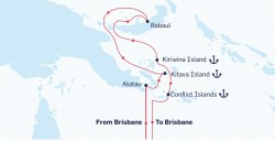 Itinerary of 13th Unlock the Past cruise
