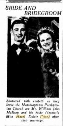 Hazel Price and Bill McIlroy The Telegraph 31 Oct 1938 via Trove