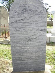 Tasman Jarvis, parents headstone