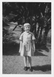 Shauna in her Bardon State School uniform