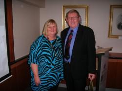Shauna Hicks & Cliff Pollard at NFHM launch 1 Aug 2013
