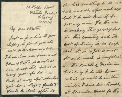 Letter from Robert and Elizabeth White, 1915