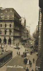 George Street Sydney postcard dated 29 Dec 1941