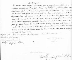 Adam Johnston statement 1887