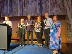 Past winners of AFFHO meritorious service award. Photo courtesy of Jeanette Hahn