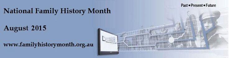 National Family History Month August 2015