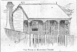 Hampstead St house sketch 1903
