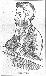 John Finn sketch from a trial record in 1903