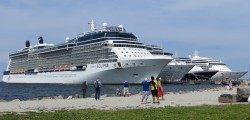 The Celebrity Eclipse and other cruise ships in the Baltic Jul 2015