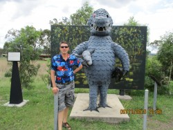Max meets the Bunyip at Mulgildie