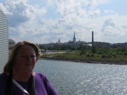 Tallinn in the background