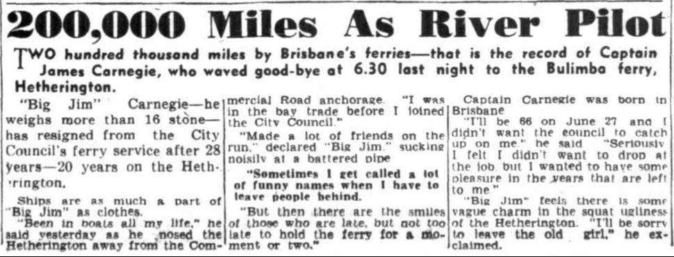 Brisbane River Pilot James Carnegie – Trove Tuesday blog