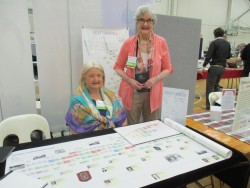 Barb and Jan just two of the many exhibitors