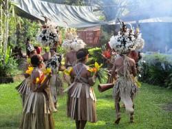 PNG dancers, Alotau author photo