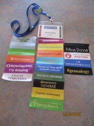 My Congress lanyard got a little long with all the tags!