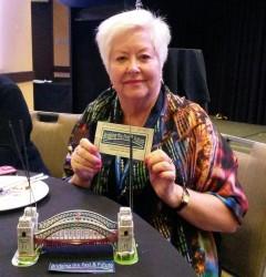 Robynne our award winning bridge builder, photo courtesy Rosemary McKenzie