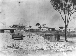 Outside Exchange Hotel, Charter Towers, 1890, negative 75500, image courtesy State Library of Queensland