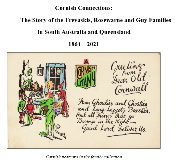 Front cover of my draft family history on my Cornish ancestors